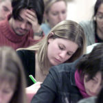 University students in the lecture theatre